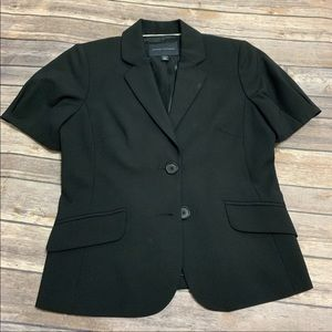 Banana Republic Short Sleeve Black Blazer